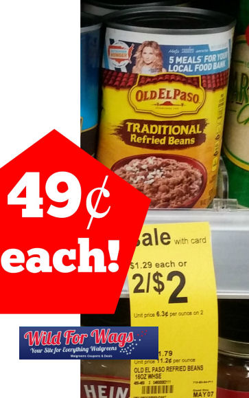 Old El Paso Refried Beans Just 49¢!
