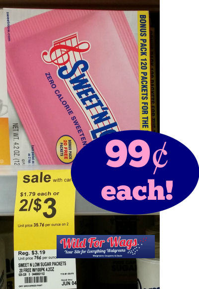 Sweet 'N Low 120ct Box Just 99¢!