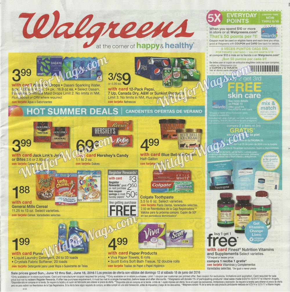 Walgreens Ad Scan 6-12-16 pg1h