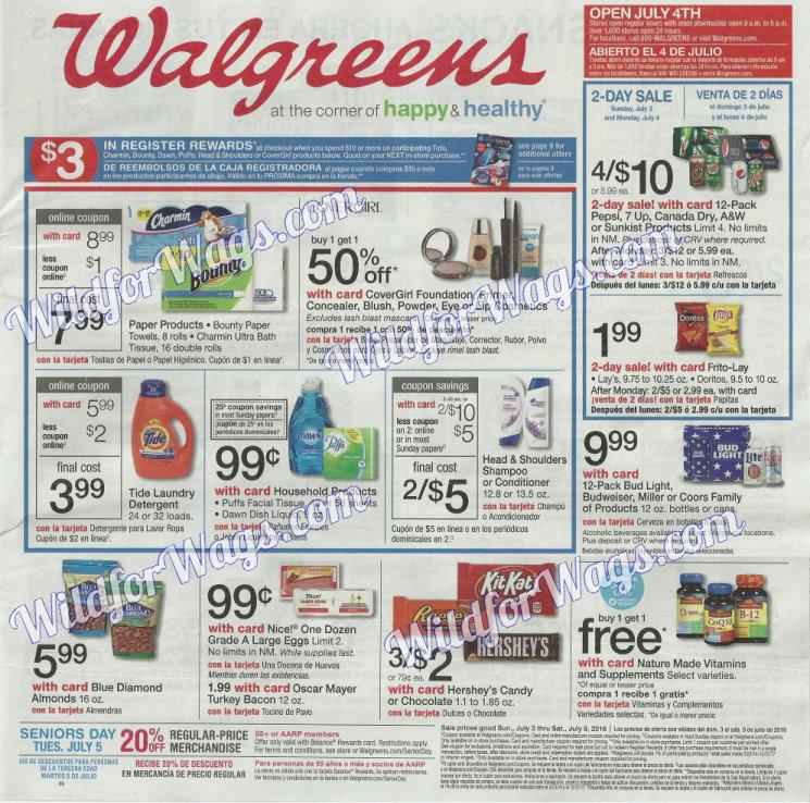 Walgreens Ad Scan 7-3-16 pg1m