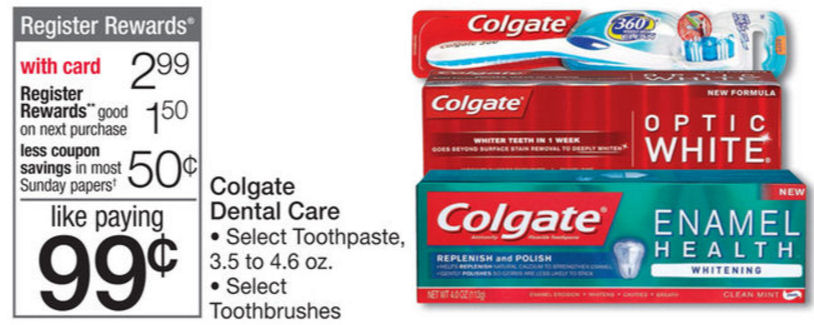 Colgate toothpaste deals