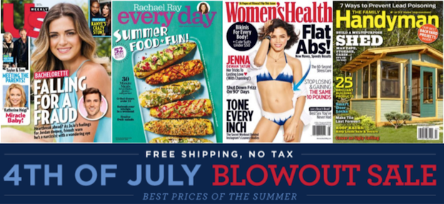 July Magazine Sale