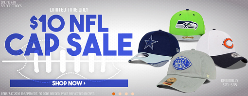 0ccfeb4c82b Lids   10 NFL Cap Sale – Save 50% Or More