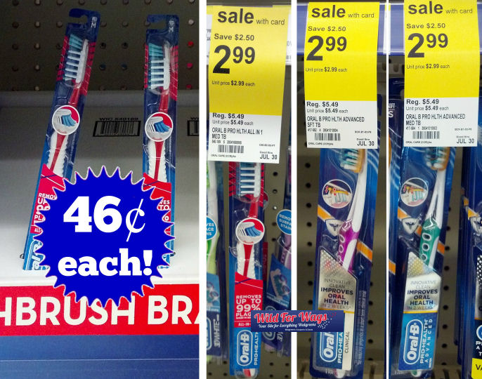 Oral-b Pro-Health Toothbrushes 46¢ Each!