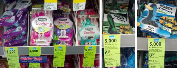 shick razors deals