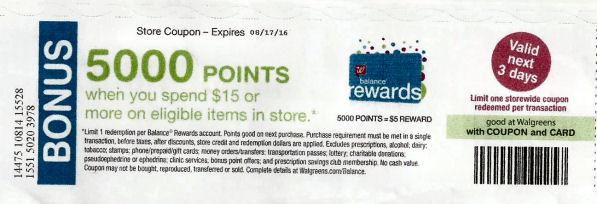 5000 pts coupon
