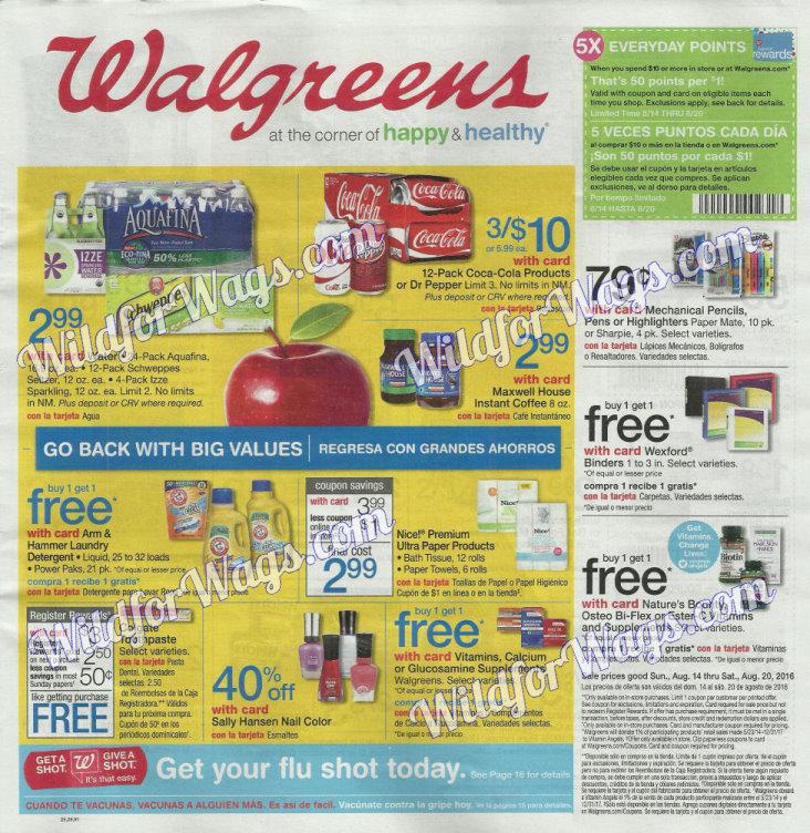 Walgreens Ad Scan 8-14-16 pg1f