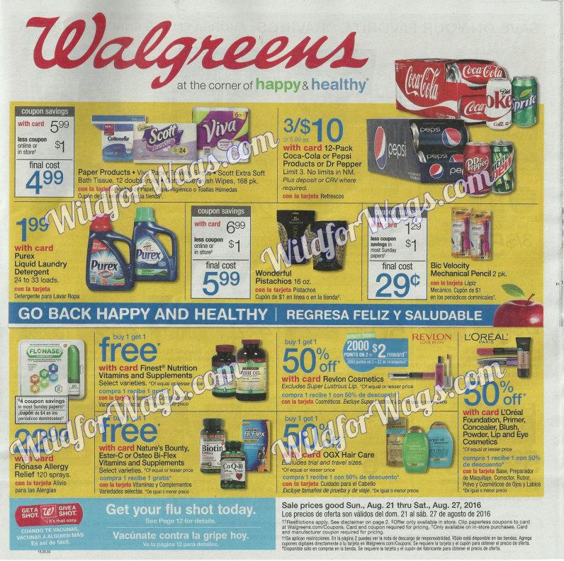 Walgreens Ad Scan 8-21 pg1h