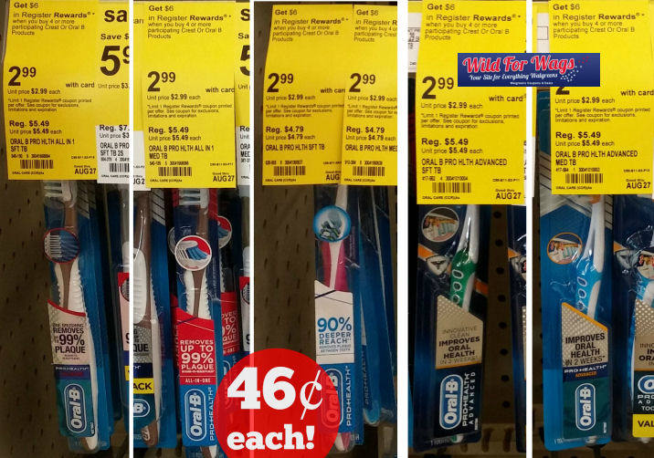oral b pro health toothbrushes deal