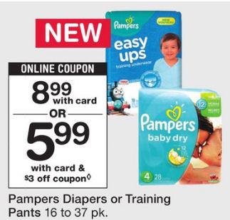Pampers Diapers As Low As $4.41