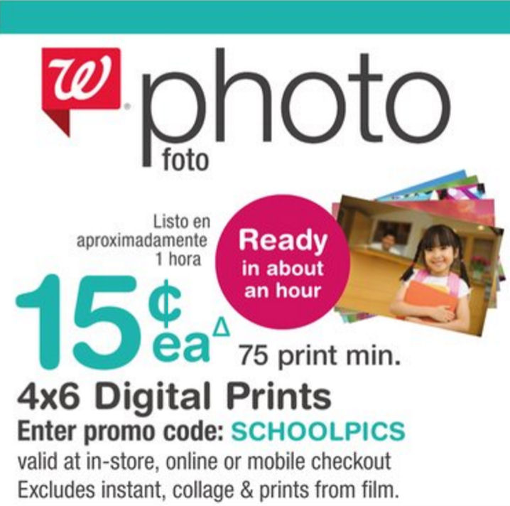 Walgreens coupon code for pictures
