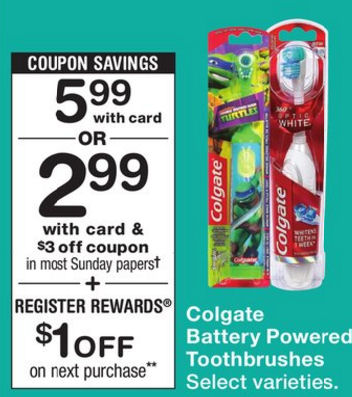 colgate battery powered toothbrush coupon