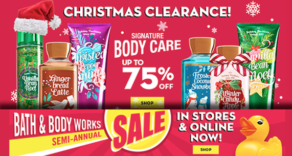 Bath Amp Body Works Clearance Up To 75 Off