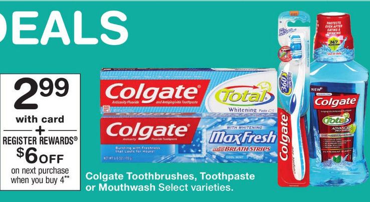 Colgate rinse deal
