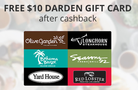 Free 10 Gift Card To Olive Garden Red Lobster For New Topcashback Users