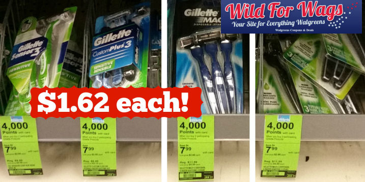 Gillette men's disposable razors