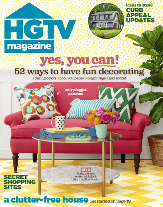 HGTV Magazine: Two Year Subscription $19.99