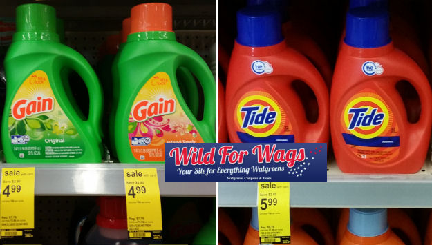 gain & tide detergent deals