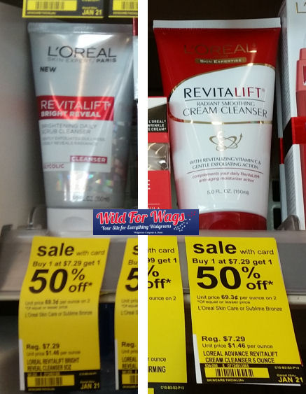 loreal revitalift cleansers