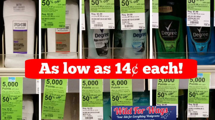 Axe and degree deodorant deals