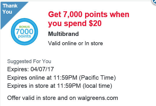 7,000 pts coupon