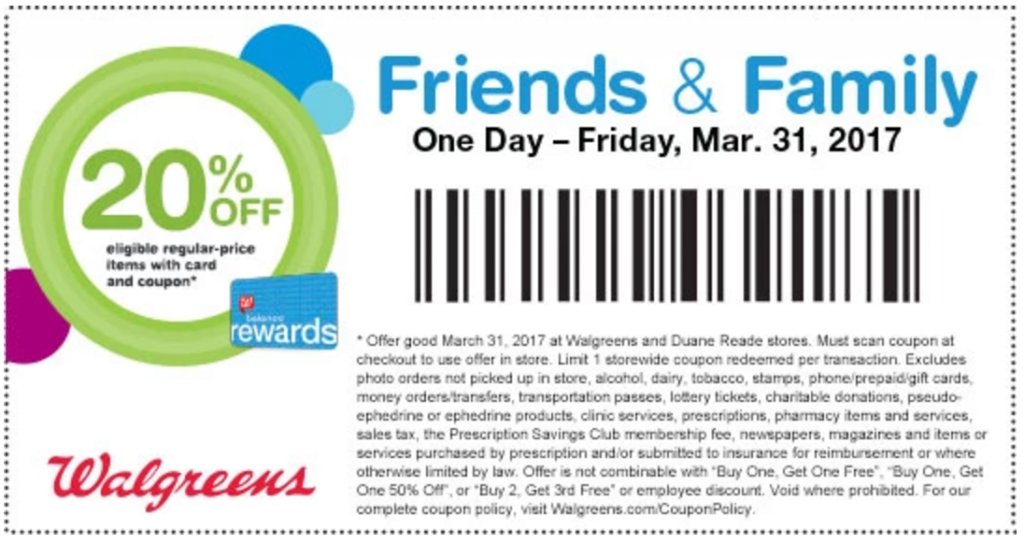 friends and family coupon walgreens