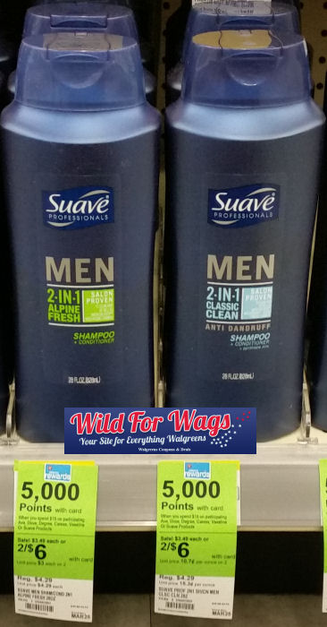 suave men hair care