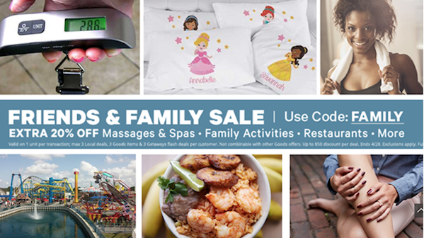 Friends & Family Groupon
