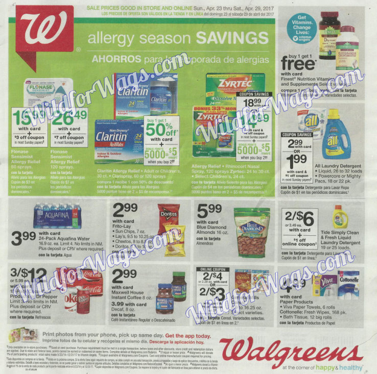 Walgreens Ad Scan 4-23 pg1p