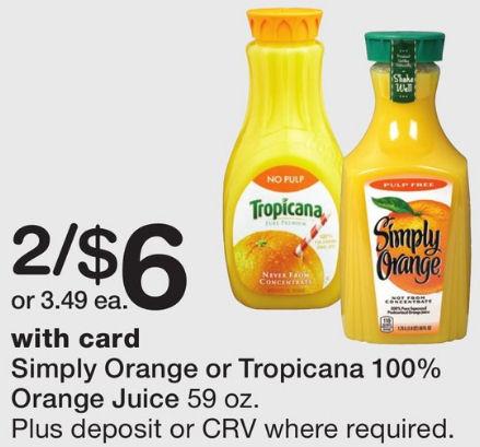 tropicana & simply orange