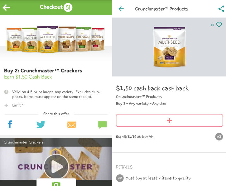 Crunchmaster checkout & ibotta deals