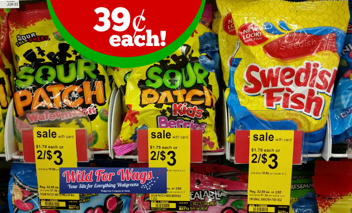 Sour patch swedish fish 7 2 8oz bags 39 each thru for Sour swedish fish