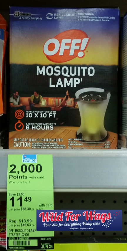 off! mosquito lamp deals