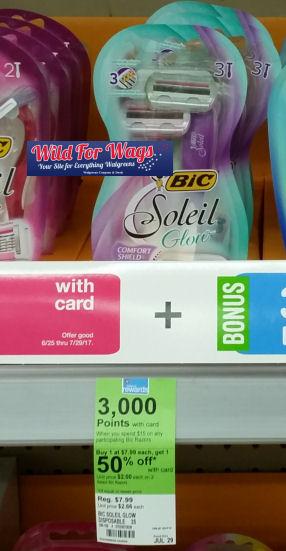 Bic soleil glow razor dealS