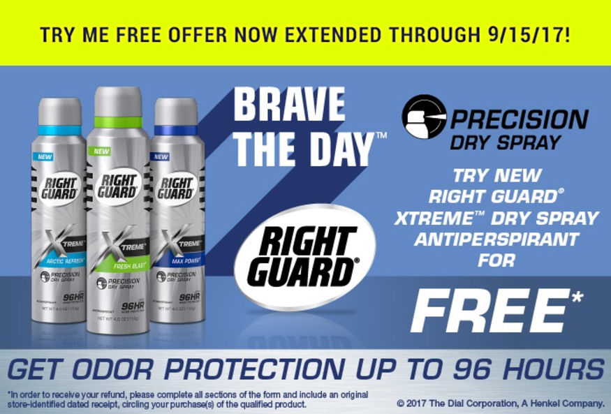 Right Guard rebate
