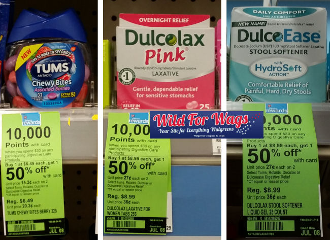 Tums and dulcolax deal