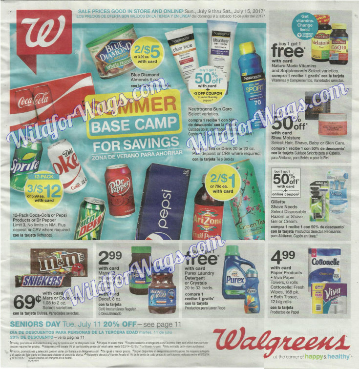 Walgreens Ad Scan 7-9 pg1q