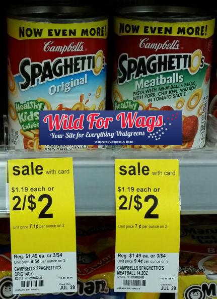 campbell's spaghettio's deal