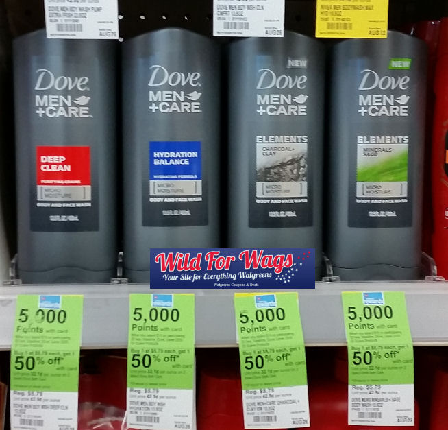 Dove men+care body washes