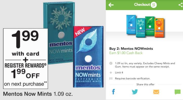 Mentos now mints deals