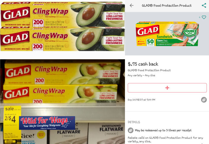 glad cling wrap deal