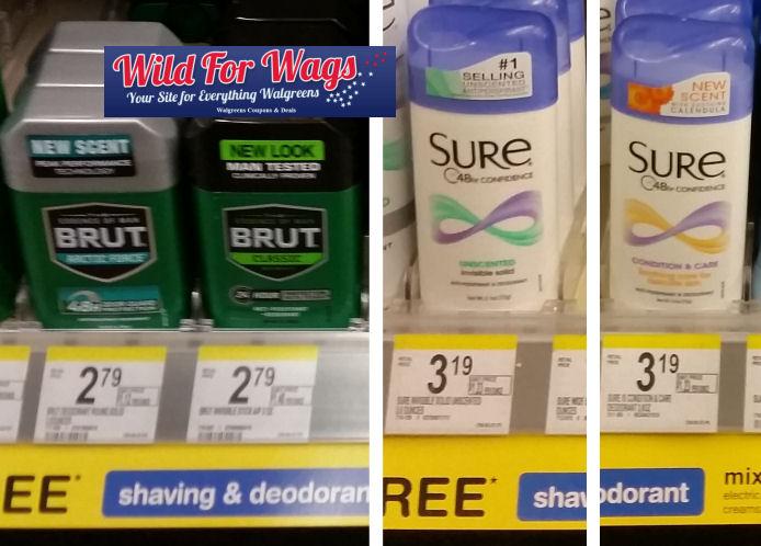sure and brut deodorant deals