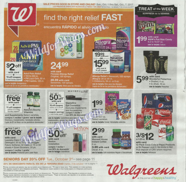 Walgreens Ad Scan 10-1 pg1m