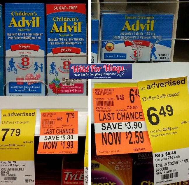 advil children clearance deal