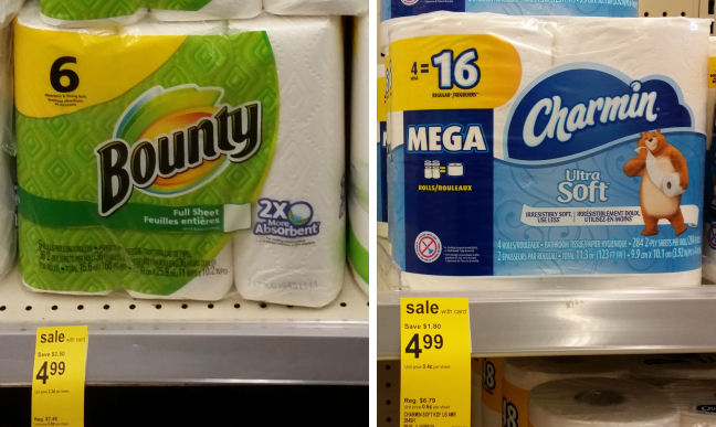 charmin and bounty deals