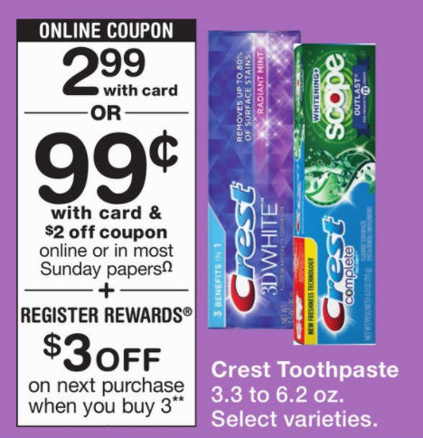 crest toothpaste deal