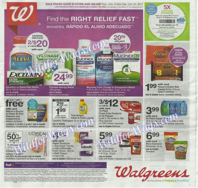 Walgreens Ad Scan 10-16 pg1m