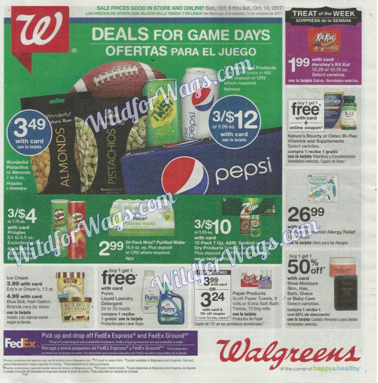 Walgreens Ad Scan 10-8 pg1b