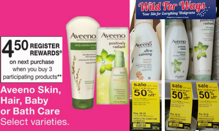 aveeno facial care deal