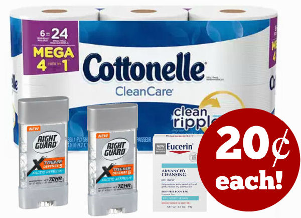 cottonelle right guard & eucerin